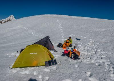 Bivouac à 6100m sur le Karun Kuh
