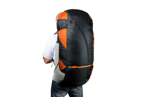 Zip unique permettant d'ouvrir tout ou partie du sac
