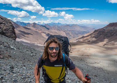 Montée au Cerro el Plomo
