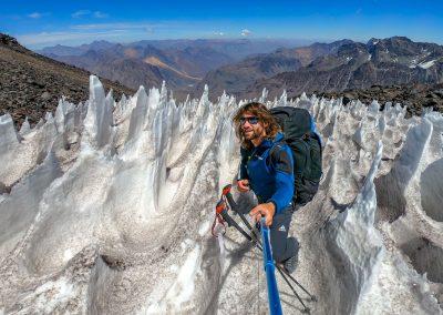 Pénitants au volcan San José (5856m)