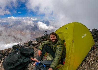 Camps à 5100m sur le volcan San José (5856m)
