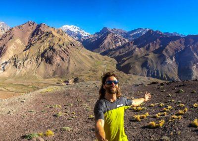 Tentative de vol au retour d'Argentine avec l'Aconcagua en arriére plan