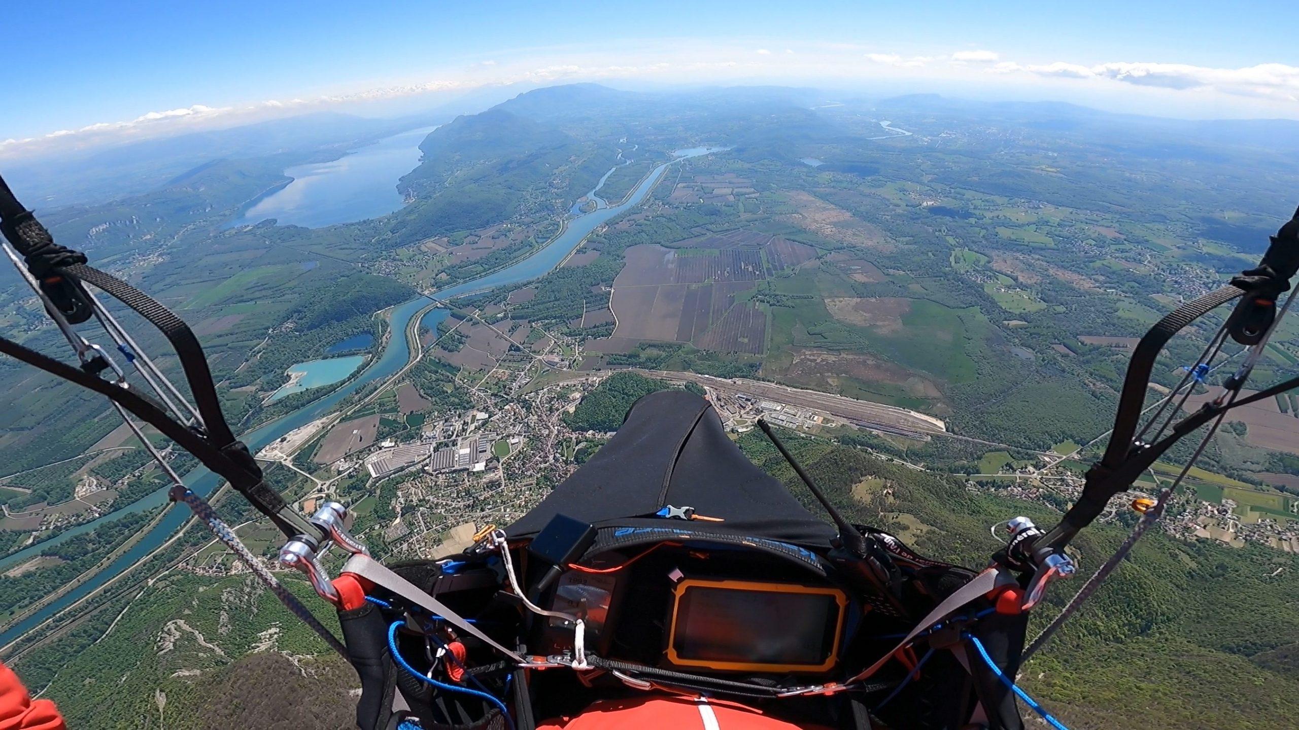 La magnifique vue depuis le Grand colombier, bien installé dans ma Kanibal Race II.