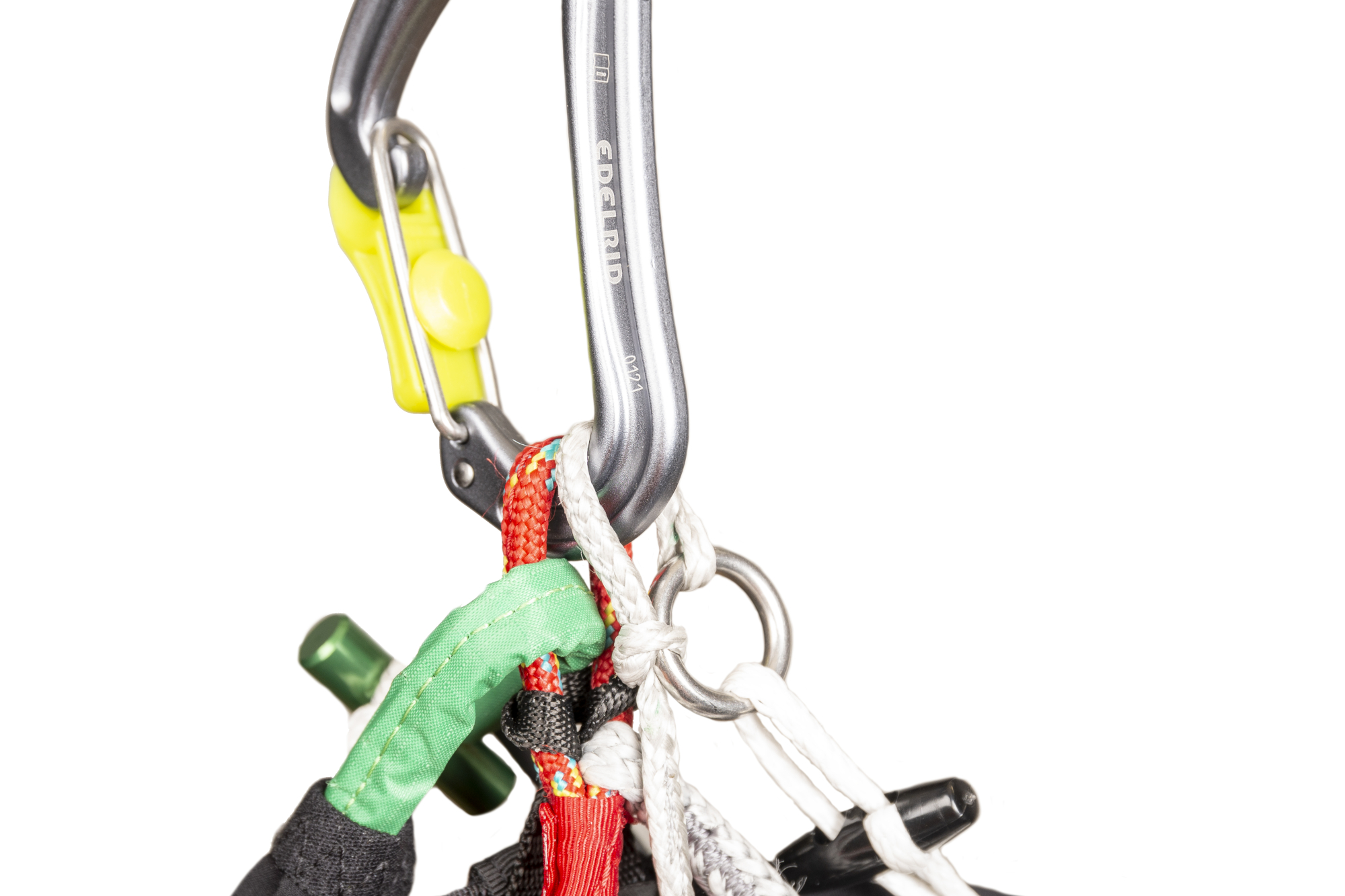 Light carabiner connection